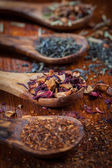 Assortment of dry tea — Stock Photo