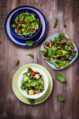 Mixed low calorie salads — Stock Photo