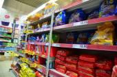 スーパー マーケットのインテリア — ストック写真
