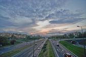 Highway road in the city — Stock Photo