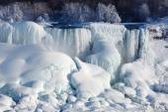 Ice build-up of Niagara Falls, winter of 2015 — Stock Photo