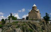 Metekhi church in Tbilisi — Stock Photo