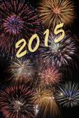 Firework for new year 2015 — Stock Photo