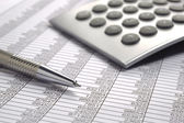 Financial business calculation — Stock Photo