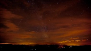Time lapse of milky way and galaxies — Stock Video