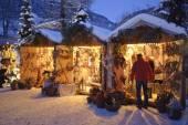 Romantic christmas market in Bavaria — Stok fotoğraf