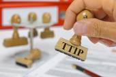 TTIP free trade agreement — Stock Photo