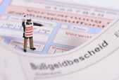German traffic ticket — Stock Photo