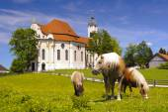 Landmark church Wieskirche in Bavaria — Stock Photo