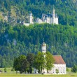 Landmark castle Neuschwanstein in Bavaria, Germany — Stock Photo #69306819