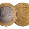 Dollar and Euro — Stock Photo #69307597