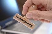 Rubber stamp printed with trademark — Stock Photo