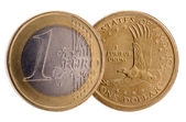 Dollar and Euro — Stock Photo