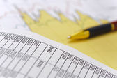 Chart and stock exchange — Stock fotografie