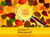 Autumn discounts landscape — Wektor stockowy