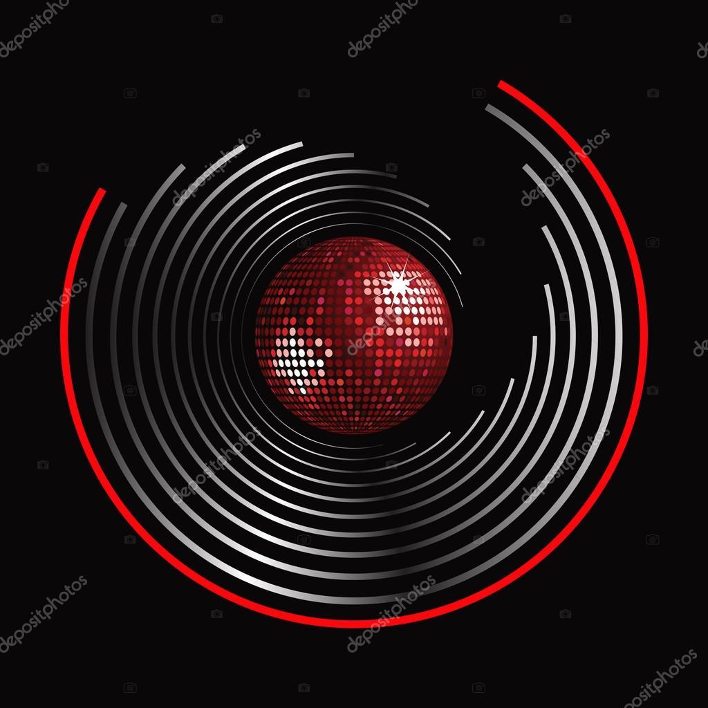 C rculo patr n y discoteca bola vector de stock - Bola de discoteca de colores ...