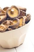 Dried shiitake mushrooms — Stock Photo