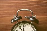 Closeup of analog retro alarm clock — Stock Photo