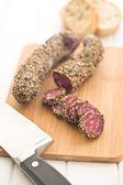 Sliced sausage — Stock Photo