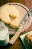 French cheese on cutting board — Stock Photo