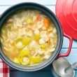 Vegetable soup with pasta — Stock Photo #65871021