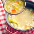 Vegetable soup with pasta — Stock Photo #65871313