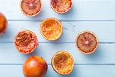 Halved blood orange  — Zdjęcie stockowe
