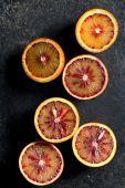 Halved blood orange — Fotografia Stock