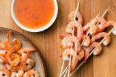 Grilled prawns — Stock Photo