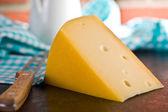 Block of edam cheese — Stock Photo