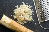 Grated horseradish root — Stock Photo