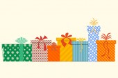 Vector Gift Boxes. Isolated — Stockvector