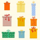 Vector Gift Boxes. Isolated. Vector illustration — Vettoriale Stock