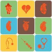 Cardiology. Heart doctor vector icon — Stock Vector