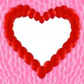 Fondo de globos rojos en forma de corazón — Vector de stock