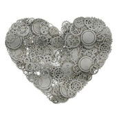 Heart made from gears. 3d illustration — Stockfoto