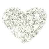 Heart made from gears. 3d illustration — Stock Photo
