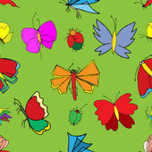 Set of butterflies. Insects. Vector illustration. — Stock Vector
