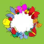 Conjunto de borboletas. Insetos. Ilustração vetorial. — Vetor de Stock