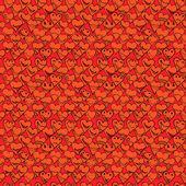 Шаблон из коллекции различных сердце символы каракули, — Cтоковый вектор