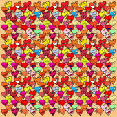 Pattern made from Collection of different heart symbols doodle,  — Stockvector