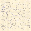 Set of hand-drawn speech bubbles. Vector illustration — Stock Vector #65037193