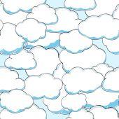 Seamless texture of beautiful clouds. Vector Illustration  — Stock vektor