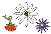 Doodles Flowers collection. — Vettoriale Stock