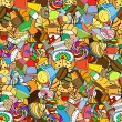 Seamless pattern. Set of confectionery — Stockvector  #69892907