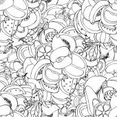 Vektor nahtlose muster der skizze früchte — Stockvektor