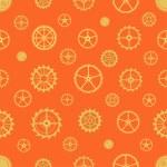 Seamless rusty cogwheel pattern — Stock Vector #70209479