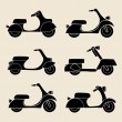 Set of transport icons - scooter and moped — Stock Vector #72087239