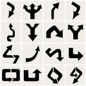 Vector arrows set — Stock Vector