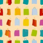 Shopping bags seamless — Stock Vector